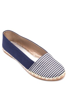 Doll Me Up Shoes Striped Blue Espadrille with Free AVON Product Price Philippines