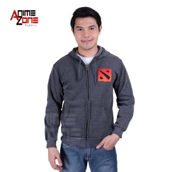 DOTA 2 Unisex Zip-Up Hoodie Jacket (Grey)