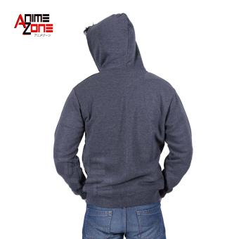 DOTA 2 Unisex Zip-Up Hoodie Jacket (Grey) - 3