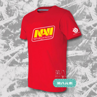 Dota2 team short sleeved t-shirt (Red)