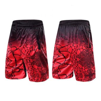 Dri-Fit Sport Five Pants James Basketball Red/Black Shorts Men's Active Shorts With Side Pockets - intl