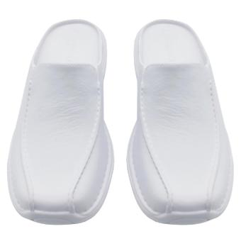 Duralite Sandals Enzo Everyday Slip on White Shoes Walking Home Comfortable Work Rain Office Wear - 2