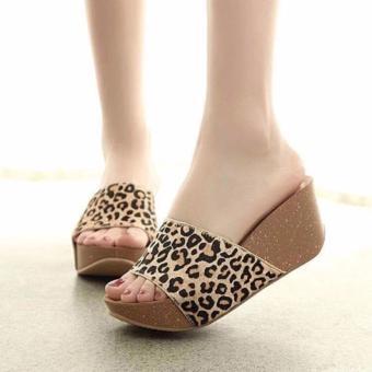 Elegant Leopard Heeled Sandals - 2