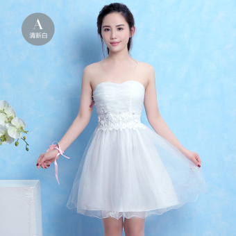 Elegant New style bridesmaid sisters dress bridesmaid dress ([A section] White)