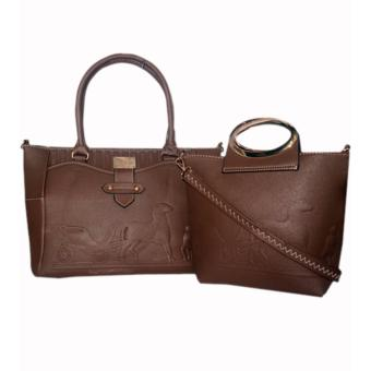 Elena 12102 Premium Bag Set (Dark Brown)