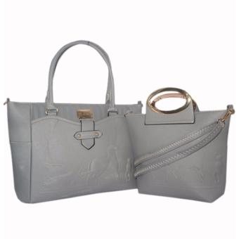 Elena 12102 Premium Bag Set (Grey)