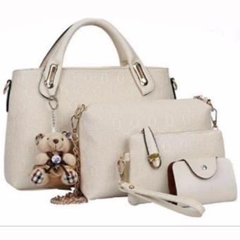 Elena 3203 Premium Bag Set (Cream)