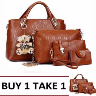 Elena 3203 Premium Bag Set (Tan) Buy1Take1