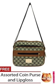 Elena 622 Sling Bag (Light Green) with free assorted coin purse and lipgloss