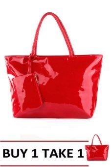 Elena 703 Shoulder Bag with Wallet (Red) Buy 1Take 1