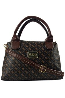 Elena 8806 Top Handle Bag With Sling (Coffee)