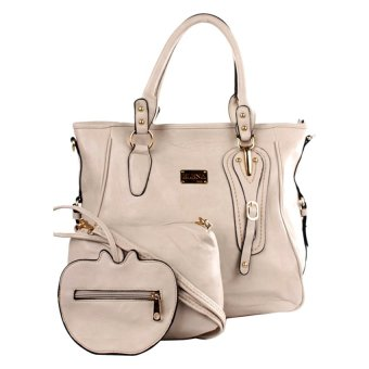 Elena E336 Shoulder Bag with Sling Bag and Wallet (Cream) Price Philippines