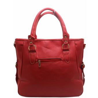 Elena E336Shoulder Bag With Sling And Wallet (Red) - 4