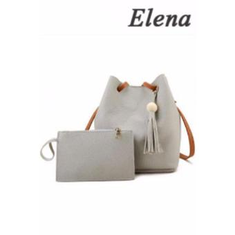 Elena Korean 2 in 1 Bucket Bag and Make up Pouch Sling Bag (Grey)