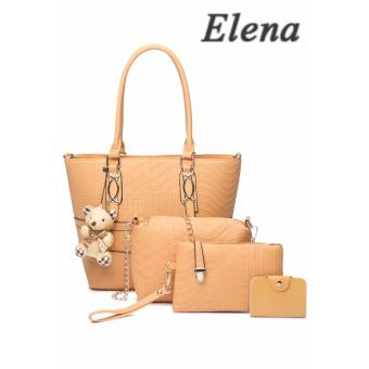 Elena X-519 5 in 1 Premium Bag Set (Apricot)With Mini Teddy