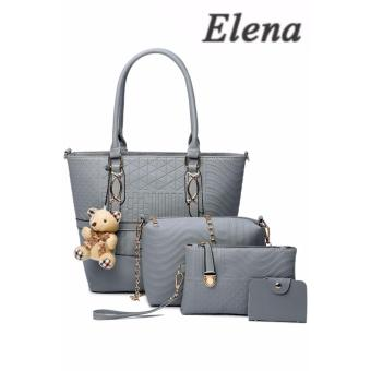 Elena X-519 5 in 1 Premium Bag Set (Grey)With Mini Teddy
