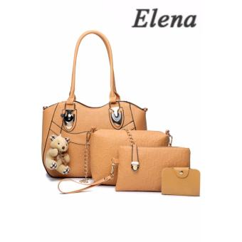 Elena X-521 5 in 1 Premium Bag Set (Apricot)With Mini Teddy