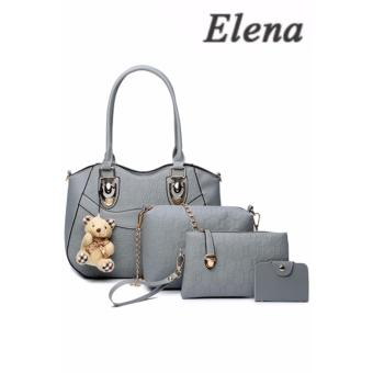 Elena X-521 5 in 1 Premium Bag Set (Grey)With Mini Teddy