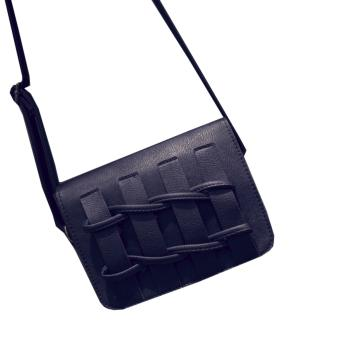 Elite Korean Fashion Women Sling Bag / PU Sling Bag - Black Price in Philippines