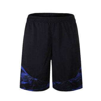 Elite quick-drying breathable running fitness basketball big shorts I shorts (M3005 black and blue)