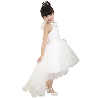 EOZY 2016 Summer Fashion Girls Dress Kids Dresses White PrincessTutu Dress For Birthday Photo Wedding Party (White) - Intl - 2