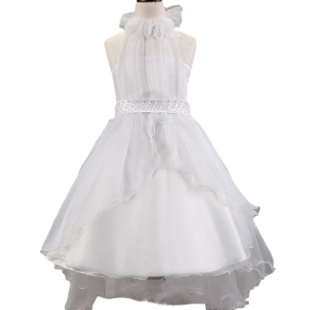 EOZY 2016 Summer Fashion Girls Dress Kids Dresses White PrincessTutu Dress For Birthday Photo Wedding Party (White) - Intl - 4