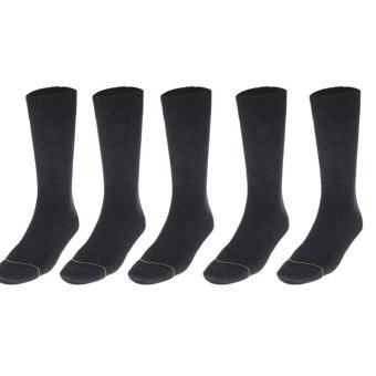 EOZY 5 Pair High Quality Mens Business Socks Long Tube Male Formal Wear Socks (Black) - intl Price Philippines