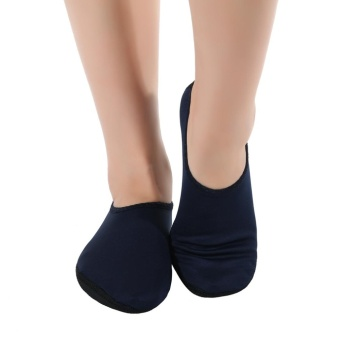 EOZY Fashion Unisex Men Women Water Shoes Aqua Socks Exercise Pool Beach Swimming Diving Socks (Navy Blue) - intl