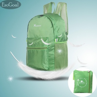 EsoGoal Ultralight Handy Travel Backpack Waterproof Packable Bag Hiking Daypack Foldable Camping Outdoor Cycling School Backpack -Green - intl