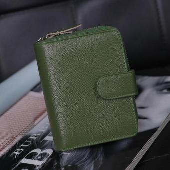 Eukanuba female wallet travel card holder leather card holder (Green)