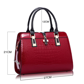 European and American female New style winter mommy bag (Wine red small)