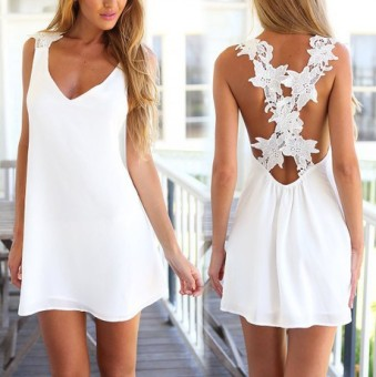 European and American New style female back dress