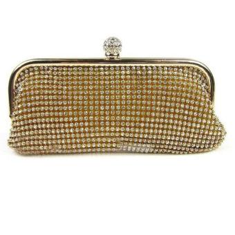 Evening Party Crystal Bag Handbag Gold - picture 2