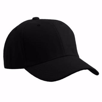 Ever Fashion Plain Baseball Cap (Black)