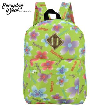 Everyday Deal Dex Unisex Casual School Backpack (Flowers/AppleGreen)