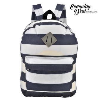 Everyday Deal Dex Unisex Casual School Backpack (Navy Blue/White)