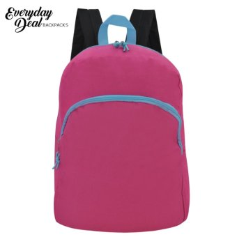 Everyday Deal Taylor Canvas Fashion Bag School Backpack (Pink)