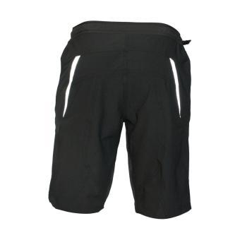 Extreme Assault Race 5 Multi Purpose Biking Short (Black w/ orangezipper) - 3