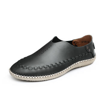Fahion Hand-sewn No Glue Casual Shoes – Black - picture 2