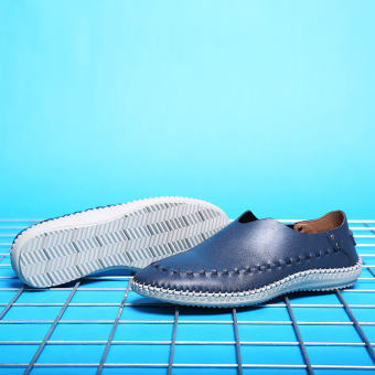 Fahion Hand-sewn No Glue Casual Shoes – Blue - picture 2