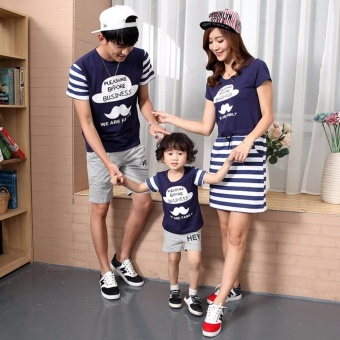 Family Matching Clothes Short Sleeve Father Mother Kids OutfitsFather and Son Fashion Cotton T-shirt (Father) - intl - 2