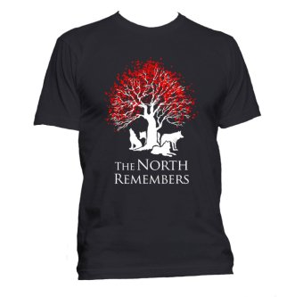 Fan Arena Game of Thrones Inspired The North Remembers T-shirt(Black) Price Philippines