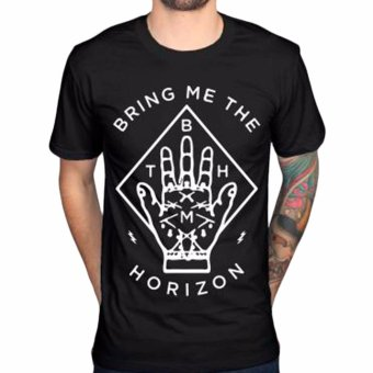 Fancyqube Bring Me The Horizon Men's T-Shirt Summer Casual ShortSleeve 100% Cotton Tee Shirt Man Heavy Metal Printed Tops Black -intl