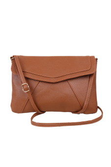 Fancyqube Envelope Satchel Shoulder Cross-Body Bags (Brown) Price Philippines
