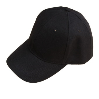 Fancyqube Fashion Unsex Solid Color Baseball Cap Black