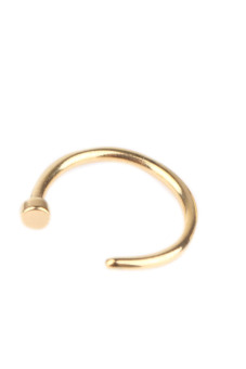 Fancyqube Stainless Steel Nose Open Hoop Ring Body Piercing Studs Jewelry Gold