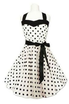 Fancyqube Summer Polka Dot Print Party Dresses Black