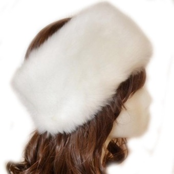 Fancyqube Winter Warm Fashion Faux Rabbit Fur Knitted Hat Cap White - Intl