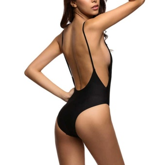 Fangfang Sexy one piece swimsuit Backless swim suit for womenswimwear low cut back monokini swimsuit S - intl - 3