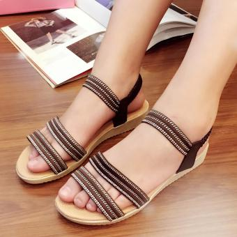 Fantasy Mini Wedge Sandals With Garter Strap 2728 (Brown) Price Philippines
